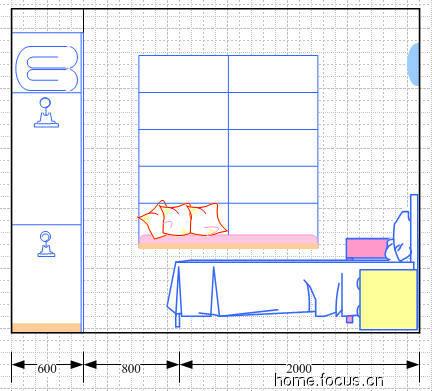 卧立面图及主卧衣柜内部设计