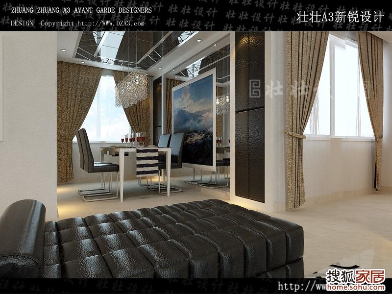 壮壮设计—餐厅效果图—壮壮风格 —黑白梦幻空间(明日星洲