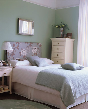 白蓝粉绿的和谐颜色混搭 卧室色彩随心配(图)